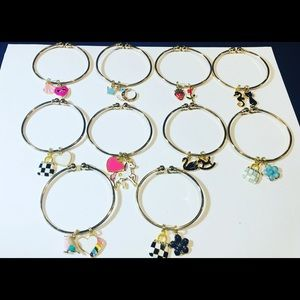 Jewelry - Gold Kid Charm Bangle Bracelets